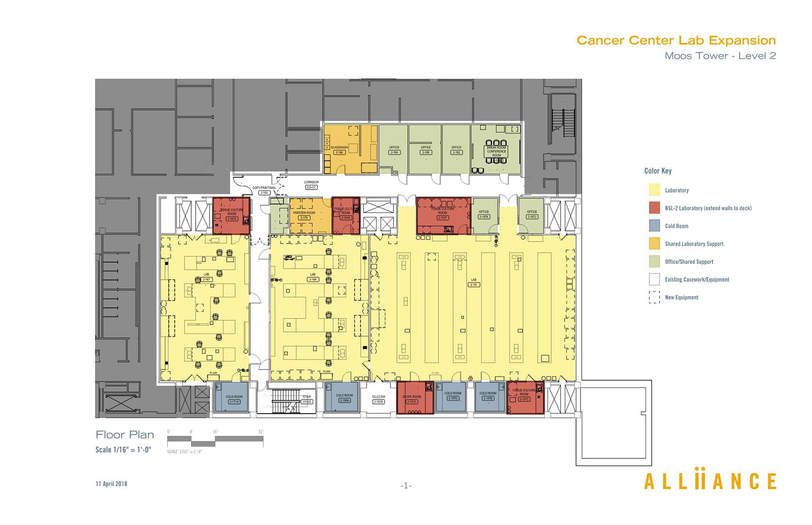 Moos Tower 2nd Floor Cancer Center Umn Capital Project Management